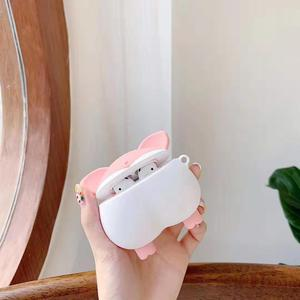 Image 3 - Pour Apple AirPods 3D dessin animé mignon Sexy cochon cul Earpods étui pour Airpods 2 chien chiot Shiba Inu chat Corgi bout à bout écouteur couverture