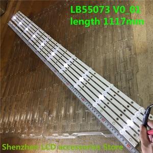 Image 3 - חדש 12 PCS LED תאורה אחורית רצועת עבור 55PUS7503 55PUS6162 55PUS6262 55PUS6753 55PUS7303 55PUS6703 LB55073 V1_02 55PUS6412 55PUS6503