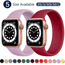 Strap for Apple Watch 5 Band 40mm 44mm iWatch serie 4 5 6 SE Elastic Belt Silicone Solo Loop bracelet Apple watch band 42mm 38mm cheap CN(Origin) Other Watchbands Rubber New with tags 200001557 200001557