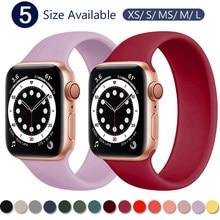 Strap für Apple Uhr 5 Band 40mm 44mm iWatch serie 4/5/6/SE Elastische gürtel Silikon Solo Schleife armband Apple uhr band 42mm 38mm
