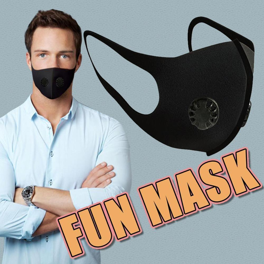 10PCS Reusable Anti bacterial face Mouth Mask + Cotton Filter Pad Double Valve Respirator Protective Equipment Earloops Masks