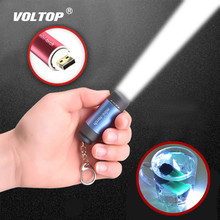 Waterproof Flashlight Car Key Ring Mini LED Light Keychain 0.5W Portable Outdoor USB Rechargeable Torch Lamp Lights