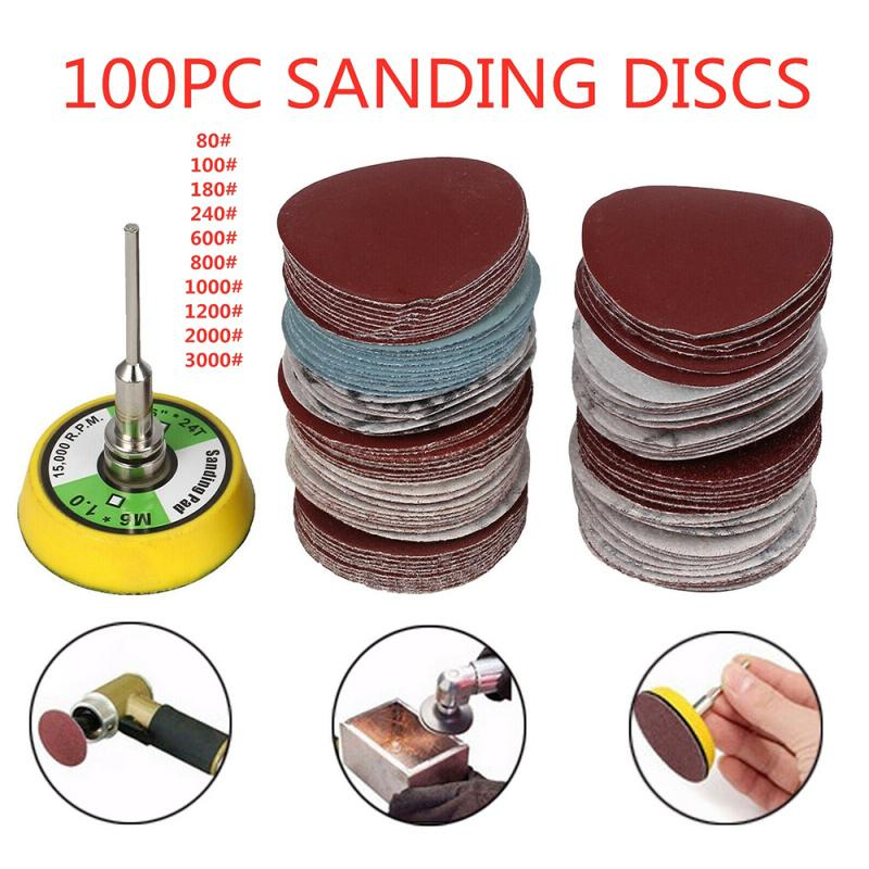 100Pcs/set Sanding Discs Round Sandpaper Disk Sand Sheet Home Tools 2 Size Optional (75mm 3 Inch/50mm 2 Inch)freeshipping