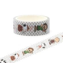 CA157 Dogs Cute Washi Tape Adhesive DIY Decoration Sticker Scrapbooking Diary Masking Stationery
