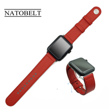 цены Genuine Leather Loop Strap For Apple Watch Band 42mm 38mm 44mm 40mm Strap Leather Iwatch Bands For Apple Watch Series 5/4/3/2/1