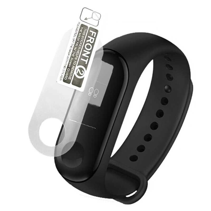 2 sztuk Screen Protector Film dla Xiao mi mi kompania 3 inteligentne nadgarstek bransoletka Xio mi mi Band 3 ochronne kategoria: filmy nie hartowane szkło