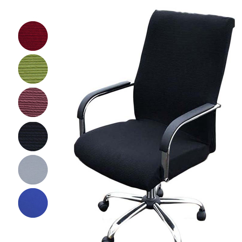 Elasticity Office Computer Chair Cover Side Arm Chair Cover Spandex Rotating Lift Dust Cover for Chair Universal Without Chair(China)