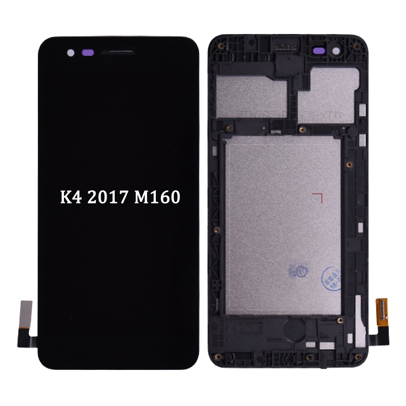 For <font><b>LG</b></font> K4 2017 <font><b>M160</b></font> <font><b>LCD</b></font> Display Touch Screen Digitizer with Frame Assembly or <font><b>LCD</b></font> No frame for K4 2017 free shipping image