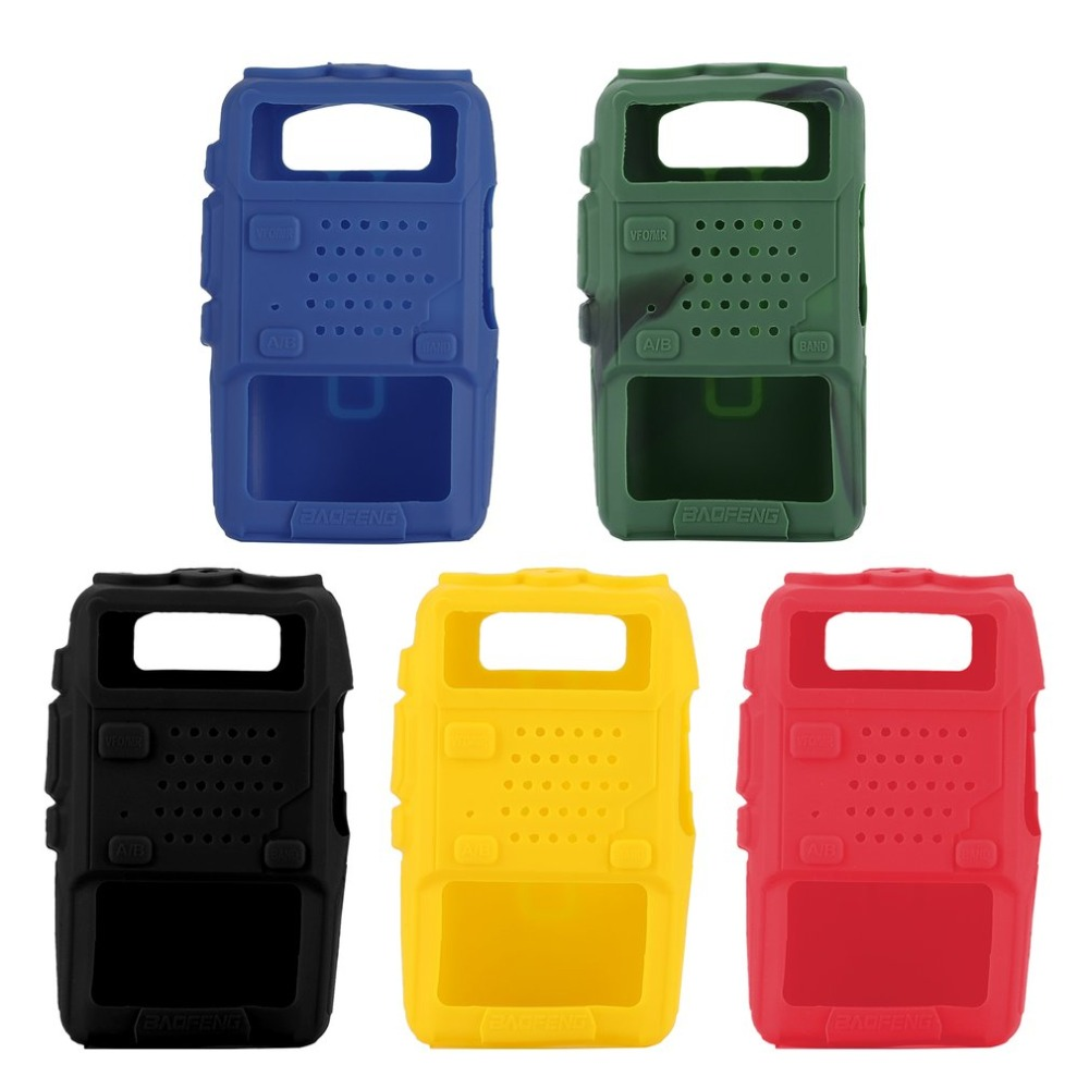 Silicone Rubber Cover Bumper BAOFENG UV-5R Case For Two Way Radio F8+ UV 5R UV-5RE DM-5R Walkie Talkie Uv5r Accessories