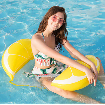 Outdoor Furniture Swimming Pool Floating Mat Inflatable Fruit Floating Bed Hammock Water Play Lounge Chair Floating Bed Sofa image