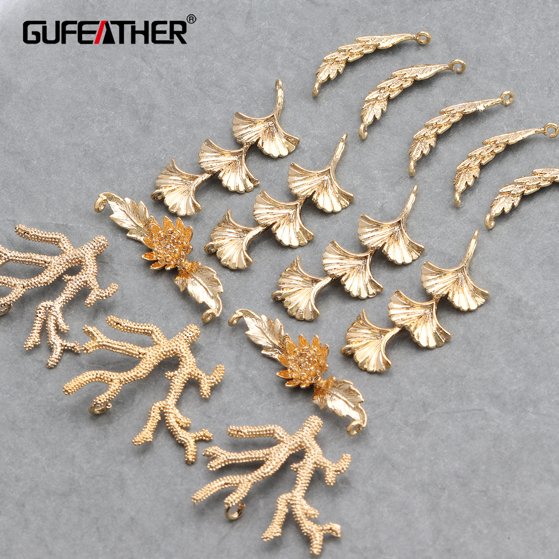 GUFEATHER M647,jewelry Accessories,18k Gold Plated,hand Made,charms,jewelry Findings,diy Earrings,jewelry Making,10pcs/lot