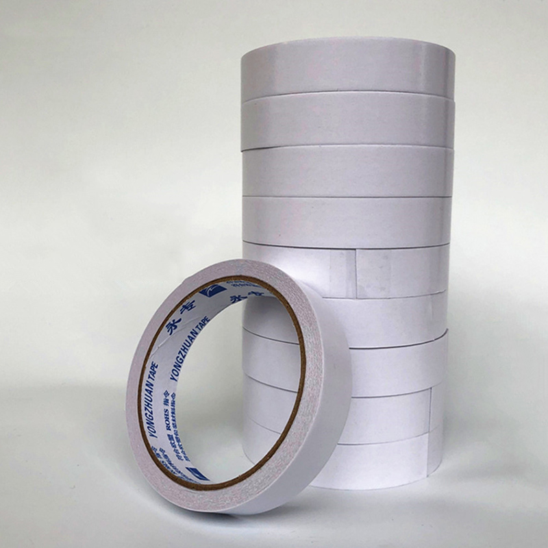 10M White Super Strong Double Sided Tape High Adhesive Tape Paper Cotton Double Sided Tape For School Office Stationery
