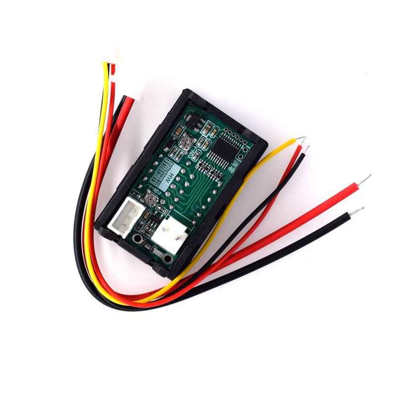 DC 0-100V 10A voltmètre numérique ampèremètre double affichage détecteur de tension courant mètre panneau ampèremètre 0.28 pouces rouge rouge LED