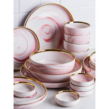 1 шт керамическая розовая мраморная чаша из Пномпеня обеденная