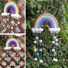 5 Lines Macrame Rainbow Hanging Ornament DIY Rope Handmade Woven Wall Decor Baby Girls Room Decor Home Nursery Decor