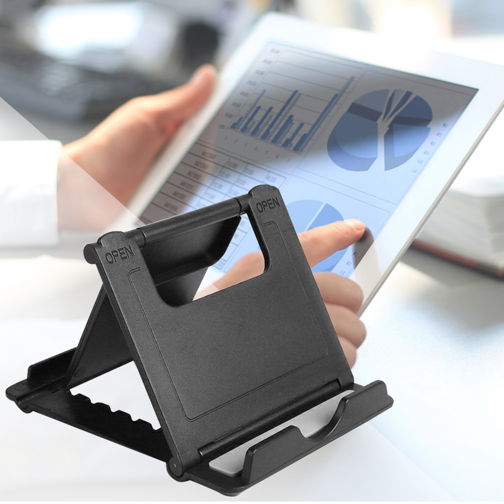 Adjustable Multi-Angle Tablet Holder Folding Cellphone Stand Universal Desktop Plastic Phone Holder