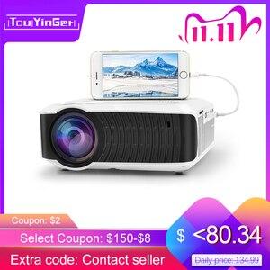 Image 1 - TouYinger T4 جهاز عرض صغير LED HDMI 1280x720 المحمولة متعاطي المخدرات USB السينما المنزلية (اختياري السلكية مزامنة عرض هاتف لوحي)