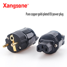 Xangsane hi fi 1 zestaw 24K pozłacana wtyczka zasilania wersja ue wtyczka zasilania czerwona miedź pozłacana wtyczka zasilania