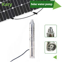 Kary 3 inches 24v 36v DC brushless submersible screw solar pump internal MPPT controller borehole solar water pump(China)
