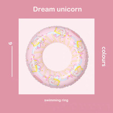 Inflatable Unicorn Swimming Ring Adult Children Pool Float Toys Games Large Life Buoy Giant Circle Party Decorations