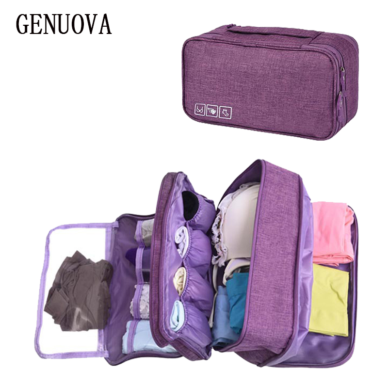 Packing Cubes Organizer Women Makeup Bag Beauty Kits Suitcases Cosmetic Toiletry Bag Bra Pack Travel Underwear Bra Storage Pouch