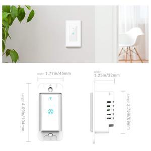 Image 4 - Smart WiFi Licht Touch Wand Schalter UNS Interruptor Drahtlose Elektrische Voice Control Fernbedienung durch Tuya Smartlife Alexa Google Hause