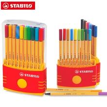 10/20 pces stabilo ponto 88 fineliner 0.4mm cor caneta marcador gel tinta rollerball caneta alemanha