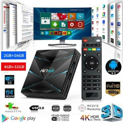 HK1 Play 3D Smart TV Box Android 9.0 Amlogic S905X2 Quad Core 4+32G Media Player