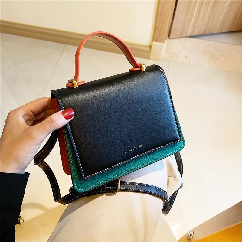 Women Handbag Leather Square Crossbody Bags For Women 2019 Bolsa Feminina Totes With Handle Shoulder Bag Cover Designer