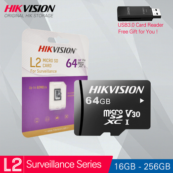 HIKVISION HikStorage Micro SD Card Class10 Security series TF Card 16/32/64/128/256GB Max 95Mb/s Memory card #L2