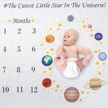Baby Milestone Blanket Newborn Photo Bac