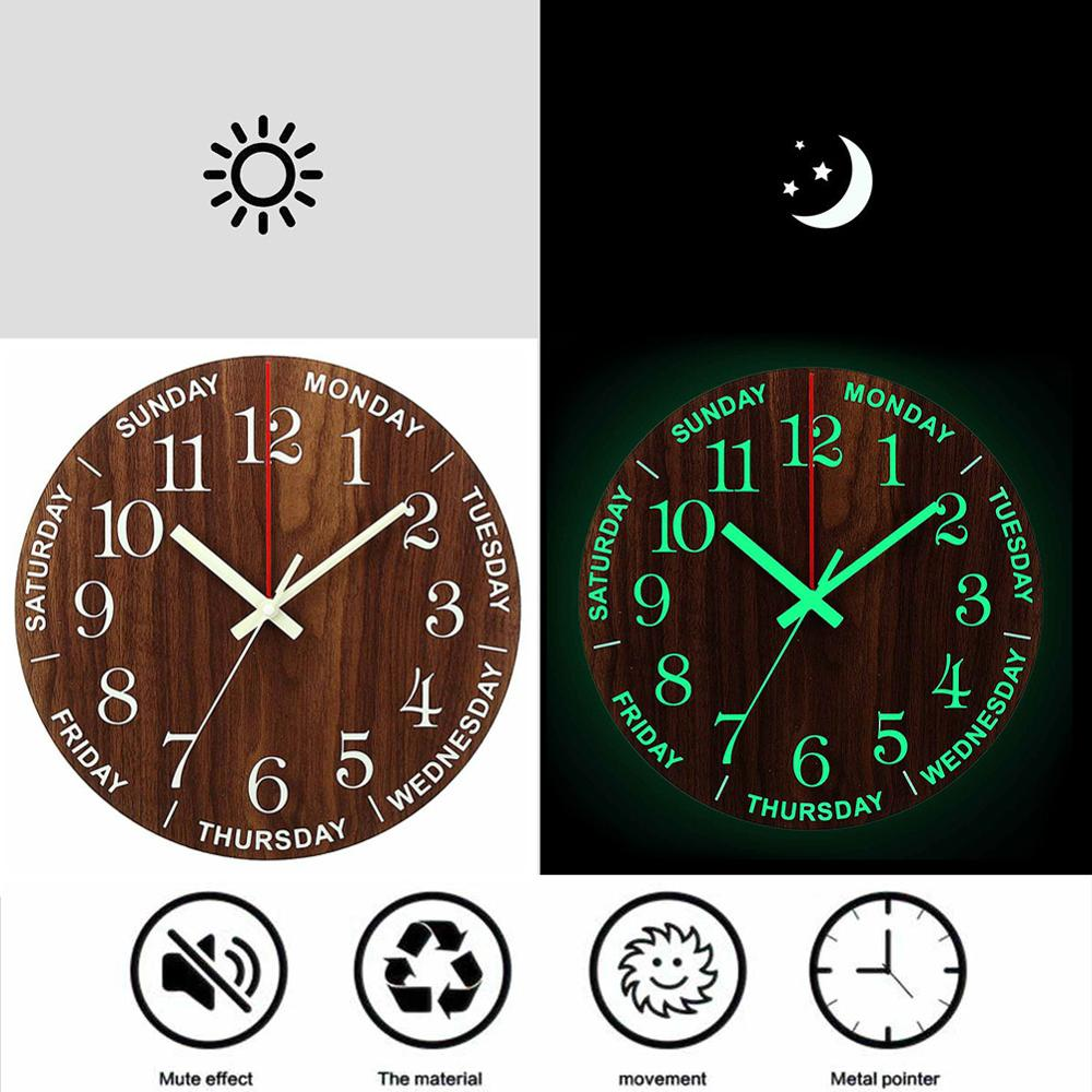 3D LED Digital Table Clock Alarm Mirror Hollow Wall Clock Modern Design Nightlight Wall Watch For Home Living Room Decorations image