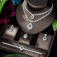 HIBRIDE Classic New Design Bridal Necklace and Earrings Set African Jewelry Set Nigerian Wedding parrure bijoux femme N 1192