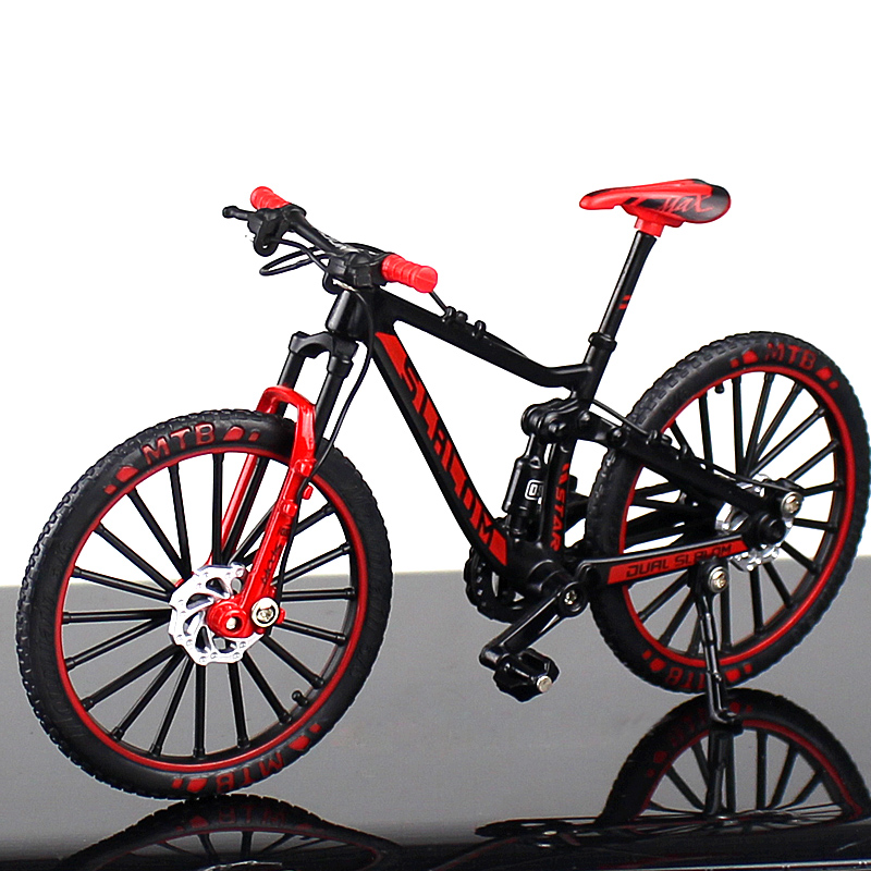 Metal Alloy Bike Model 1/1 Scale Die-cast Simulation Racing Mountain Bike Model Toy Collection Children Gift Indoor Display