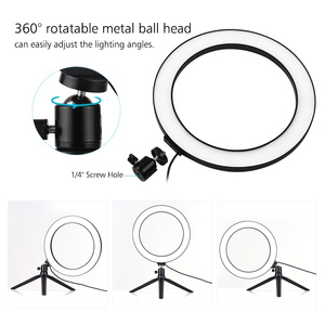 Image 4 - Photography 10 Inch LED Ring Light Tripod Stand Remote Control 3200K 5500K Dimmable Ringlight for tik tok Video Live Stream