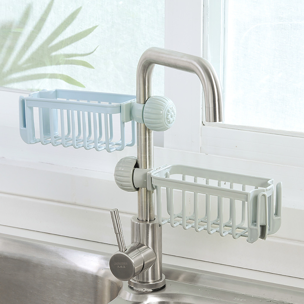 Kitchen Sink Faucet Sponge Soap Cloth Drain Rack Storage Organizer Holder-shelf Sponge Holder Bathroom Holder-shelf 2020 W5