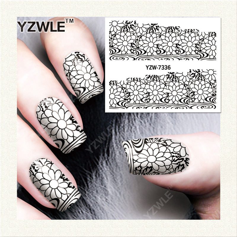 Nail Sticker Flower Stickers New Style Nail Sticker Flower Stickers South Korea Nail Sticker Translucent Watercolor Flower Manic