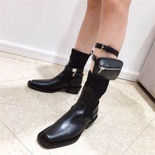 Прямая поставка женские весенние ботинки черные на резиновой