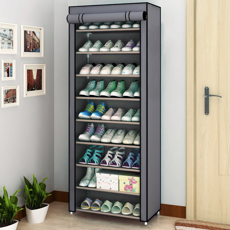 다층 신발 랙 분리형 방진 부직포 신발 캐비닛 홈 스탠딩 공간 절약형 스탠드 홀더 신발 주최자