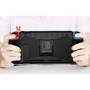 Image 3 - Coque en Silicone pour Nintendo Switch coque de Protection anti choc poignée ergonomique pour Nintendo Switch NS accessoires