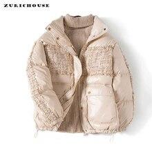 ZURICHOUSE Winter Jacket Women's White Duck Down Jacket Parka 2020 Fashion Small
