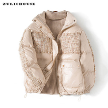 ZURICHOUSE Winter Jacket Women's White Duck Down Ja