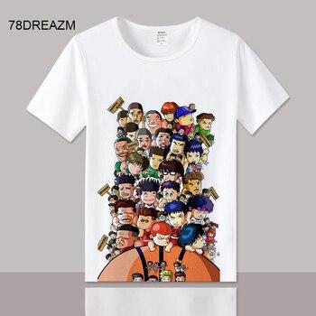 Harajuku Slum camiseta mate divertida Japón Punk camisas verano Hip Hop Rock camiseta Cool japonesa de gran tamaño camiseta Strwwtwear hombre
