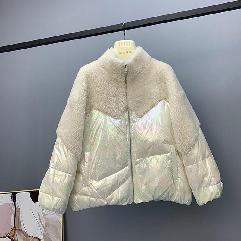 2019 Winter Jacket Women 90%White Duck Down Jacket Women  Loose Down Parkas Female Thicken Warm Short Down Coat Snow Outwear