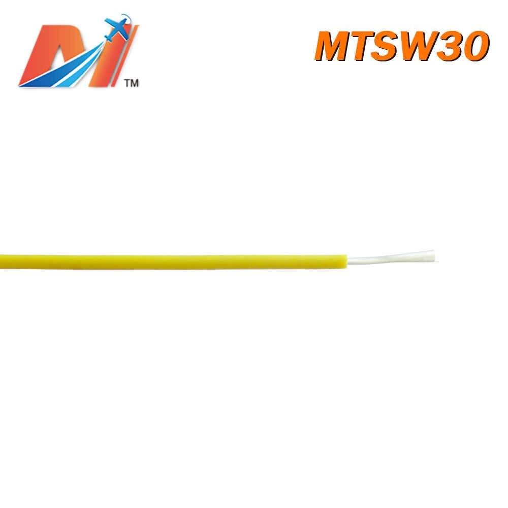 Maytech Uitverkoop (1 meter) power silicon draad AWG30 GELE KLEUR