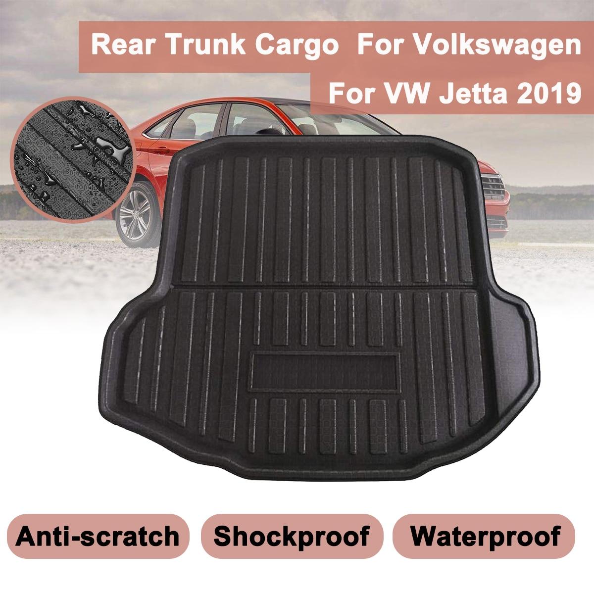 Car Cargo Liner For VW Jetta 2019 Boot For VolkswagenTray Rear Trunk Cover Matt Mat Floor Carpet Kick Pad Mat