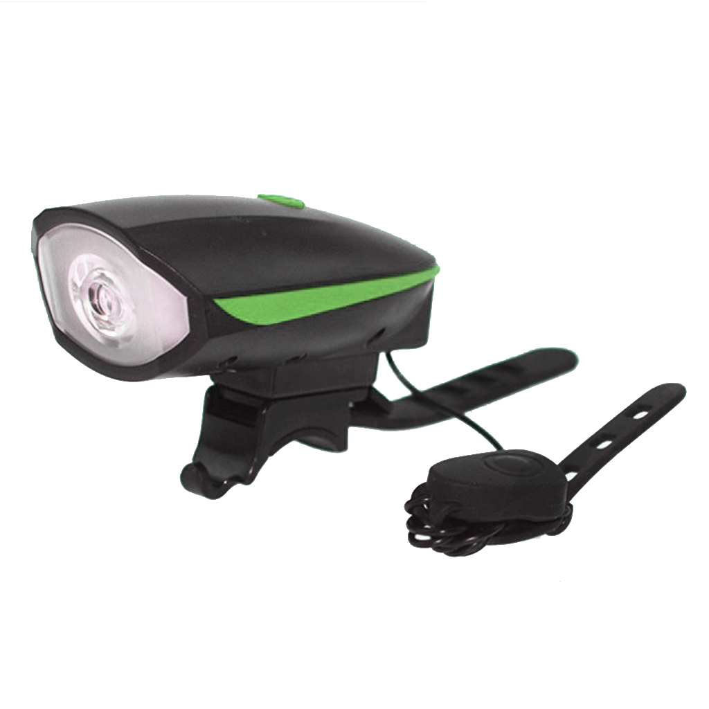 2in1 Bright Led Bicycle Light w/ Horn Waterproof Bike Bell Headlight with USB Charging Cable Cycling Handlebar Front Lamp