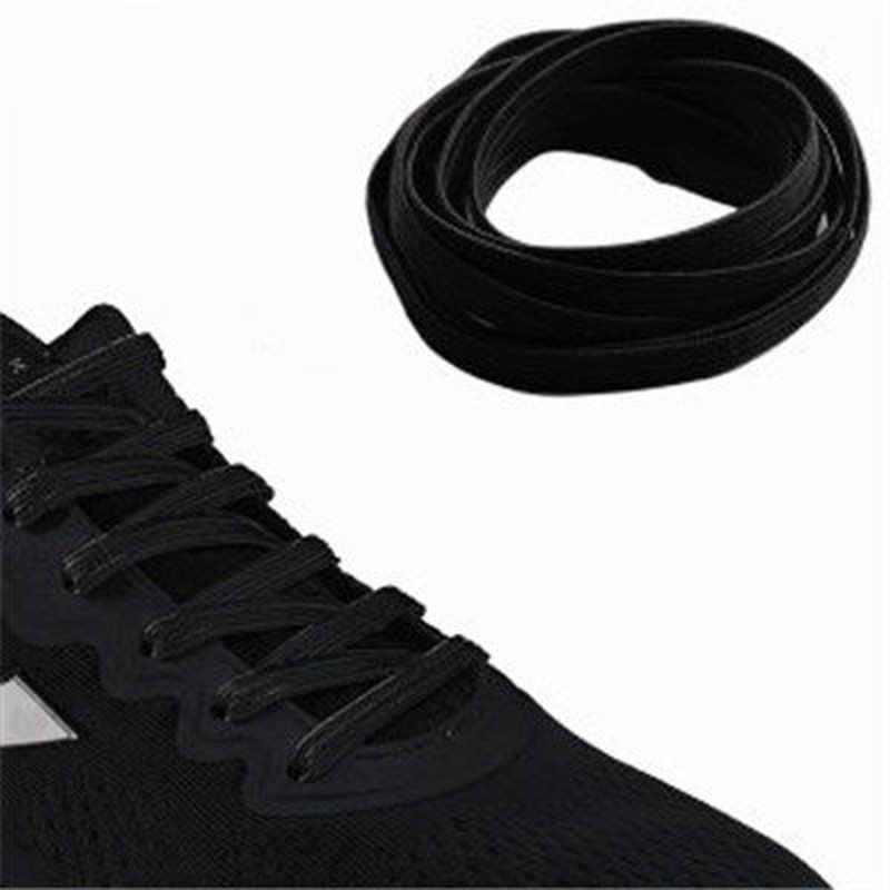 1 คู่ 2019 ขายส่งไม่มี Tie Lazy ShoeLaces ยืดหยุ่นยางรองเท้าลูกไม้รองเท้าผ้าใบเด็กปลอดภัยเชือกผูกรองเท้า