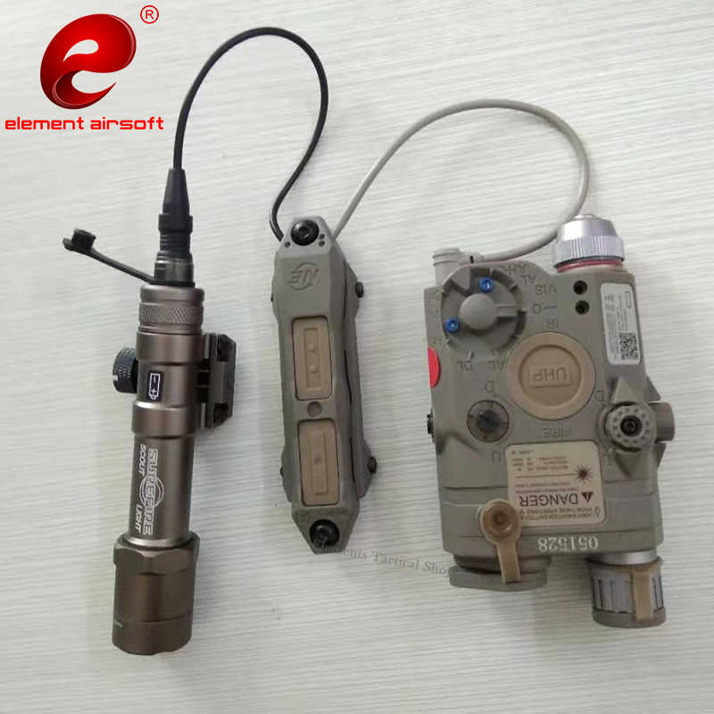 Airsoft Elemen Taktis Senter Peq 15 Pressure Switch PEQ15 Double Control Switch Peq 15 Dbal Senjata Lampu NE04040