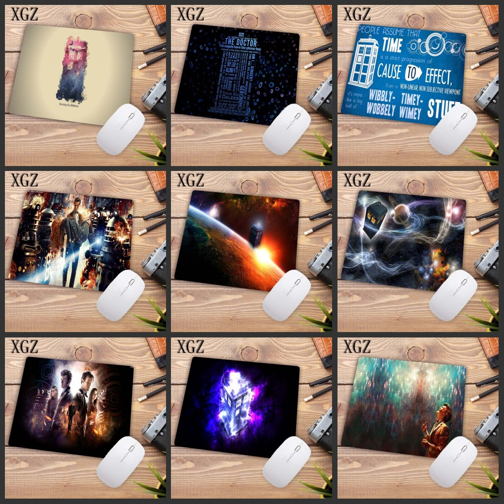XGZ Funny Police Box Doctor Who Laptop PC Mice Pad Mousepad  Optical Laser Mouse Rubber Speed Game Mouse Pad 22X18CM Promotion